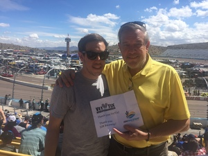 Agent and Son attended 2018 TicketGuardian 500 - Monster Energy NASCAR Cup Series on Mar 11th 2018 via VetTix
