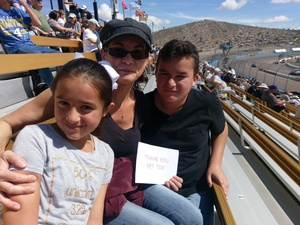 Jennifer attended 2018 TicketGuardian 500 - Monster Energy NASCAR Cup Series on Mar 11th 2018 via VetTix