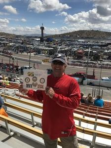 Anthony attended 2018 TicketGuardian 500 - Monster Energy NASCAR Cup Series on Mar 11th 2018 via VetTix