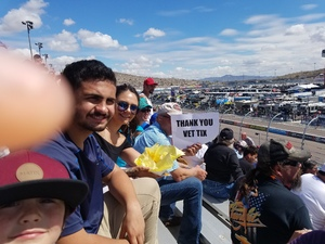 Dean attended 2018 TicketGuardian 500 - Monster Energy NASCAR Cup Series on Mar 11th 2018 via VetTix