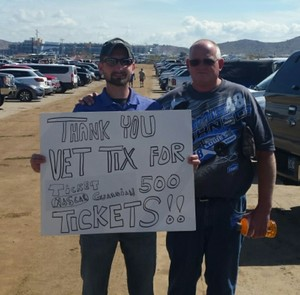Joshua attended 2018 TicketGuardian 500 - Monster Energy NASCAR Cup Series on Mar 11th 2018 via VetTix