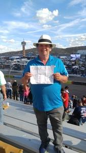 jonathan attended 2018 TicketGuardian 500 - Monster Energy NASCAR Cup Series on Mar 11th 2018 via VetTix