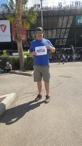 Zach attended 2018 TicketGuardian 500 - Monster Energy NASCAR Cup Series on Mar 11th 2018 via VetTix