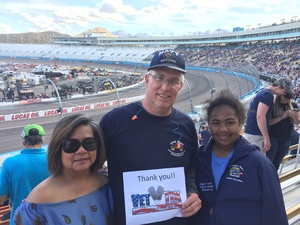 Howard attended 2018 TicketGuardian 500 - Monster Energy NASCAR Cup Series on Mar 11th 2018 via VetTix