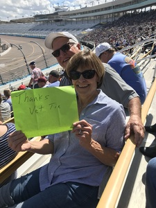 Sharon attended 2018 TicketGuardian 500 - Monster Energy NASCAR Cup Series on Mar 11th 2018 via VetTix