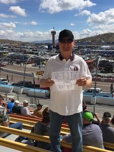 Ron S. - Mesa, AZ attended 2018 TicketGuardian 500 - Monster Energy NASCAR Cup Series on Mar 11th 2018 via VetTix