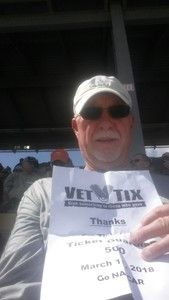Ronald attended 2018 TicketGuardian 500 - Monster Energy NASCAR Cup Series on Mar 11th 2018 via VetTix