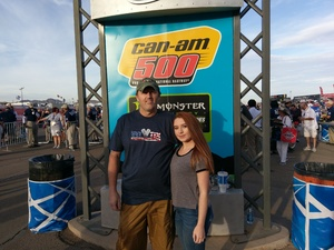 Blair attended 2018 TicketGuardian 500 - Monster Energy NASCAR Cup Series on Mar 11th 2018 via VetTix