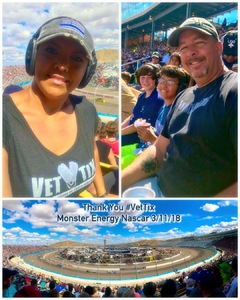 Tisa attended 2018 TicketGuardian 500 - Monster Energy NASCAR Cup Series on Mar 11th 2018 via VetTix