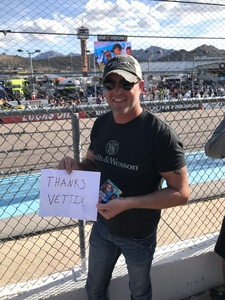 Randy attended 2018 TicketGuardian 500 - Monster Energy NASCAR Cup Series on Mar 11th 2018 via VetTix