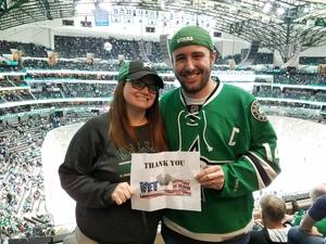 Clayton attended Dallas Stars vs. Tampa Bay Lightning - NHL on Mar 1st 2018 via VetTix