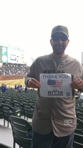 Michael attended Chicago Cubs vs. Pittsburgh Pirates - MLB on Apr 11th 2018 via VetTix