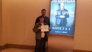 Natalie attended Jim Gaffigan - the Fixer Upper on Mar 4th 2018 via VetTix