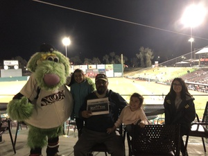 CABBIE attended Lake Elsinore Storm vs. Inland Empire - MiLB on Apr 17th 2018 via VetTix