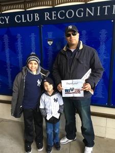 David attended New York Yankees vs. Baltimore Orioles - MLB on Apr 8th 2018 via VetTix