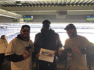 Jose Diaz attended New York Yankees vs. Baltimore Orioles - MLB on Apr 8th 2018 via VetTix