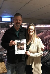 Terry attended Blake Shelton With Brett Eldredge, Carly Pearce and Trace Adkins on Mar 17th 2018 via VetTix
