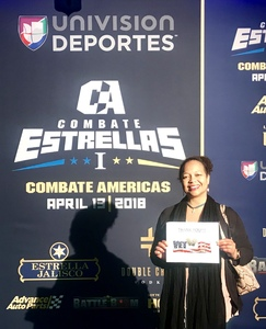 Princess attended Combate Estrellas I - MMA in Los Angeles - Mixed Martial Arts - Presented by Combate Americas on Apr 13th 2018 via VetTix