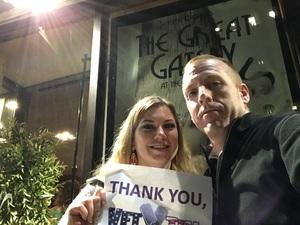 Matthew attended The Great Gatsby on Apr 6th 2018 via VetTix
