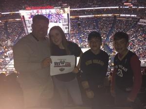 John attended New Orleans Pelicans vs. Los Angeles Lakers - NBA on Mar 22nd 2018 via VetTix