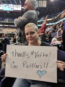 Melodie attended Arizona Rattlers vs. Cedar Rapids Titans - IFL on Mar 31st 2018 via VetTix