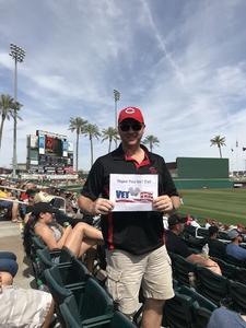 Brian attended Cleveland Indians vs. Cincinnati Reds - MLB Spring Training on Mar 25th 2018 via VetTix