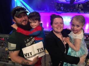 John attended Disney on Ice Frozen - Sunday Evening on Mar 25th 2018 via VetTix