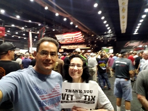 Pedro attended Barrett Jackson - the World's Greatest Collector Car Auction in Palm Beach, Fl - Tickets Are 2 for 1, So 1 Tickets Will Get 2 People in on Apr 14th 2018 via VetTix