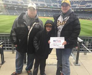 Lisa attended Pittsburgh Pirates vs. Cincinnati Reds - MLB on Apr 6th 2018 via VetTix