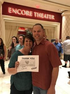 Matthew and Staci attended Jewel: Hits, Muses and Mentors on Mar 30th 2018 via VetTix