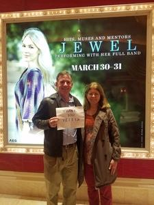 Carl attended Jewel: Hits, Muses and Mentors on Mar 30th 2018 via VetTix