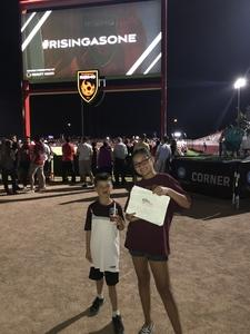 David attended Phoenix Rising FC vs. Real Monarchs SLC - USL on Apr 7th 2018 via VetTix