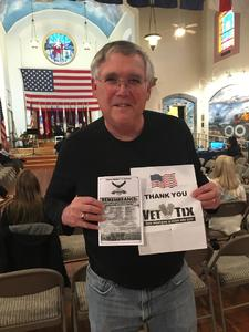 Howard attended World War One - a Generation Lost - a Dramatic Musical Concert on Apr 20th 2018 via VetTix