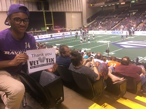 J attended Baltimore Brigade vs. Washington Valor - AFL on Apr 13th 2018 via VetTix