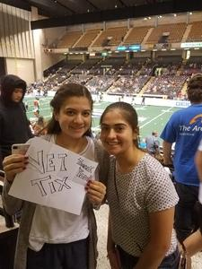 Juan attended Baltimore Brigade vs. Washington Valor - AFL on Apr 13th 2018 via VetTix