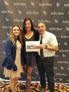 David attended Ballet West - the Shakespeare Suite on Apr 14th 2018 via VetTix