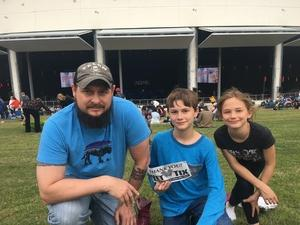 David attended Brad Paisley Weekend Warrior World Tour Standing and Lawn Seats Only on Apr 13th 2018 via VetTix
