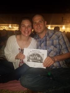 wesley attended Brad Paisley Weekend Warrior World Tour Standing and Lawn Seats Only on Apr 13th 2018 via VetTix