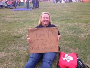 Bridget attended Brad Paisley Weekend Warrior World Tour Standing and Lawn Seats Only on Apr 13th 2018 via VetTix