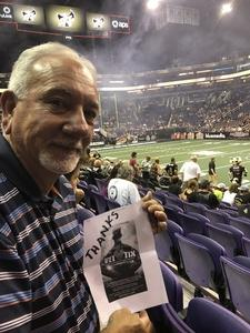 Emmett attended Arizona Rattlers vs. Green Bay Blizzard - IFL on Apr 21st 2018 via VetTix