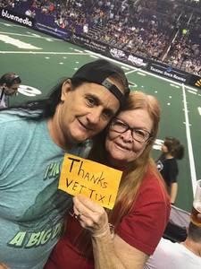 john attended Arizona Rattlers vs. Green Bay Blizzard - IFL on Apr 21st 2018 via VetTix
