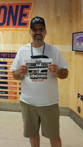 David attended Arizona Rattlers vs. Green Bay Blizzard - IFL on Apr 21st 2018 via VetTix