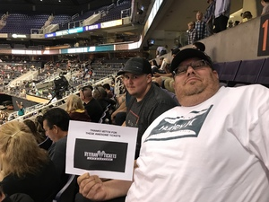 Christopher attended Arizona Rattlers vs. Green Bay Blizzard - IFL on Apr 21st 2018 via VetTix