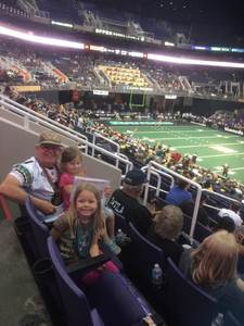 James attended Arizona Rattlers vs. Green Bay Blizzard - IFL on Apr 21st 2018 via VetTix