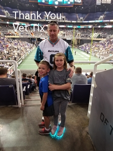 Mark attended Arizona Rattlers vs. Green Bay Blizzard - IFL on Apr 21st 2018 via VetTix