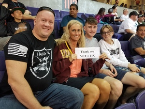 Geoffrey attended Arizona Rattlers vs. Green Bay Blizzard - IFL on Apr 21st 2018 via VetTix