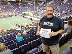 DJ attended Arizona Rattlers vs. Green Bay Blizzard - IFL on Apr 21st 2018 via VetTix