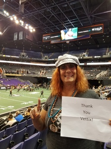 Barbara attended Arizona Rattlers vs. Green Bay Blizzard - IFL on Apr 21st 2018 via VetTix