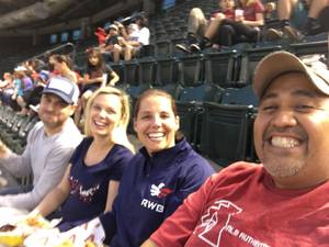 RO attended Arizona Diamondbacks vs. San Francisco Giants on Apr 17th 2018 via VetTix