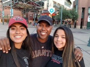 Corey attended Arizona Diamondbacks vs. San Francisco Giants on Apr 18th 2018 via VetTix